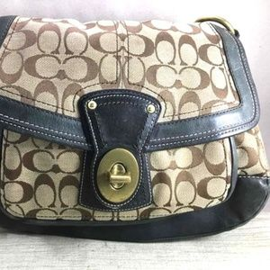 Coach bag w/ Multi-color Striped Interior
